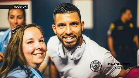 CHEESE: Sergio cracks a smile.