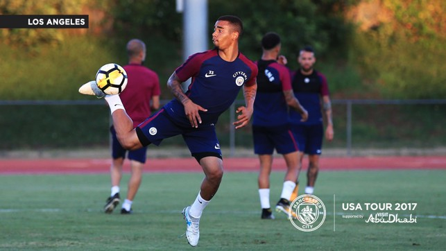 TRICKS AND FLICKS: Gabriel Jesus shows off his impressive skills.