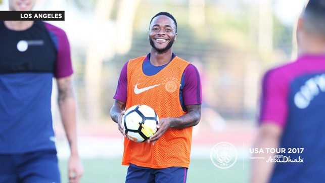 STERLING JOB: The squad had a great session in front of the fans.