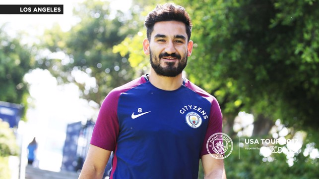 FITNESS WORK: Ilkay Gundogan steps out