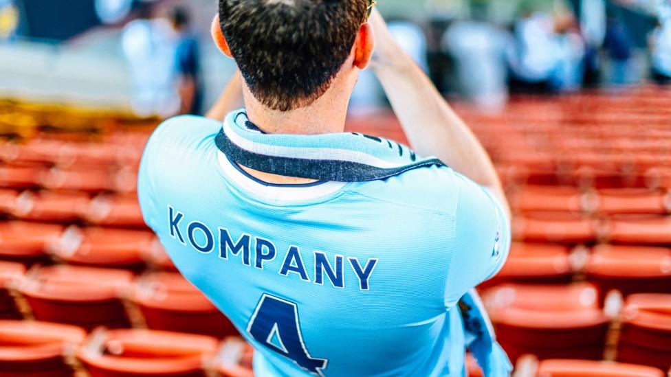 KOMPANY MAN: A City fan waits for the game