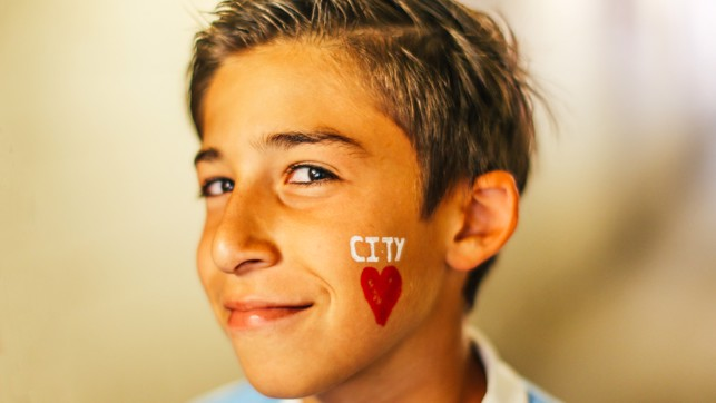 CITY LOVE: This young fan's a true Blue