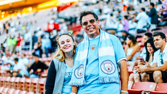 OLD SCHOOL: One fan parades his vintage shirt