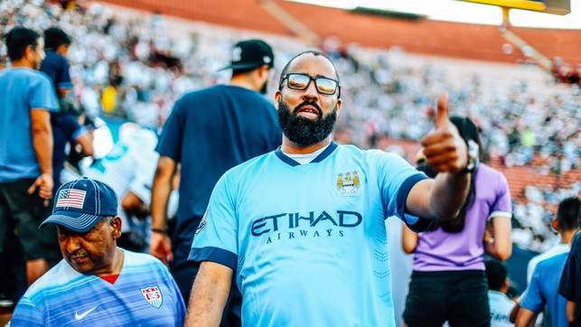 THUMBS UP: City fans were treated to a stunning show in LA