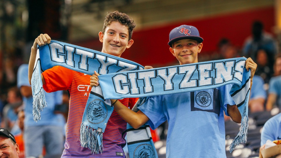 DERBY DAYS: City fans at the NRG Stadium in Houston