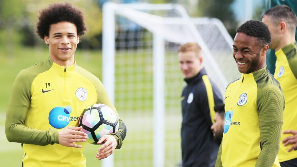 "Sterling on Sane: ""He's a good lad and has a good laugh with everyone. He's a friendly character and a great guy to have around the changing room."""