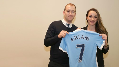 Kosovare Asllani and Nick Cushing