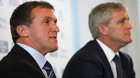 Garry Cook Mark Hughes press conference 0809