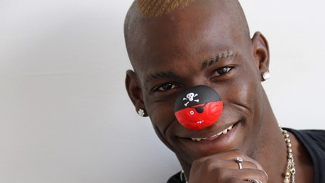 Mario shows his red nose
