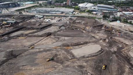 Manchester City Campus Development Aerial Shot