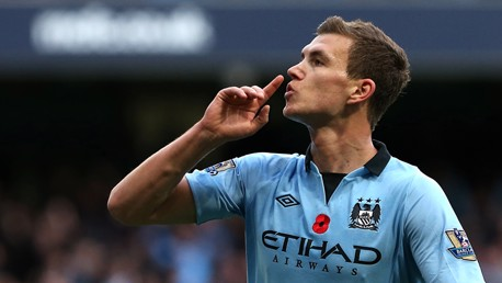 Edin - maybe suggesting some of the visiting fans should keep their opinions to themselves (v Spurs)
