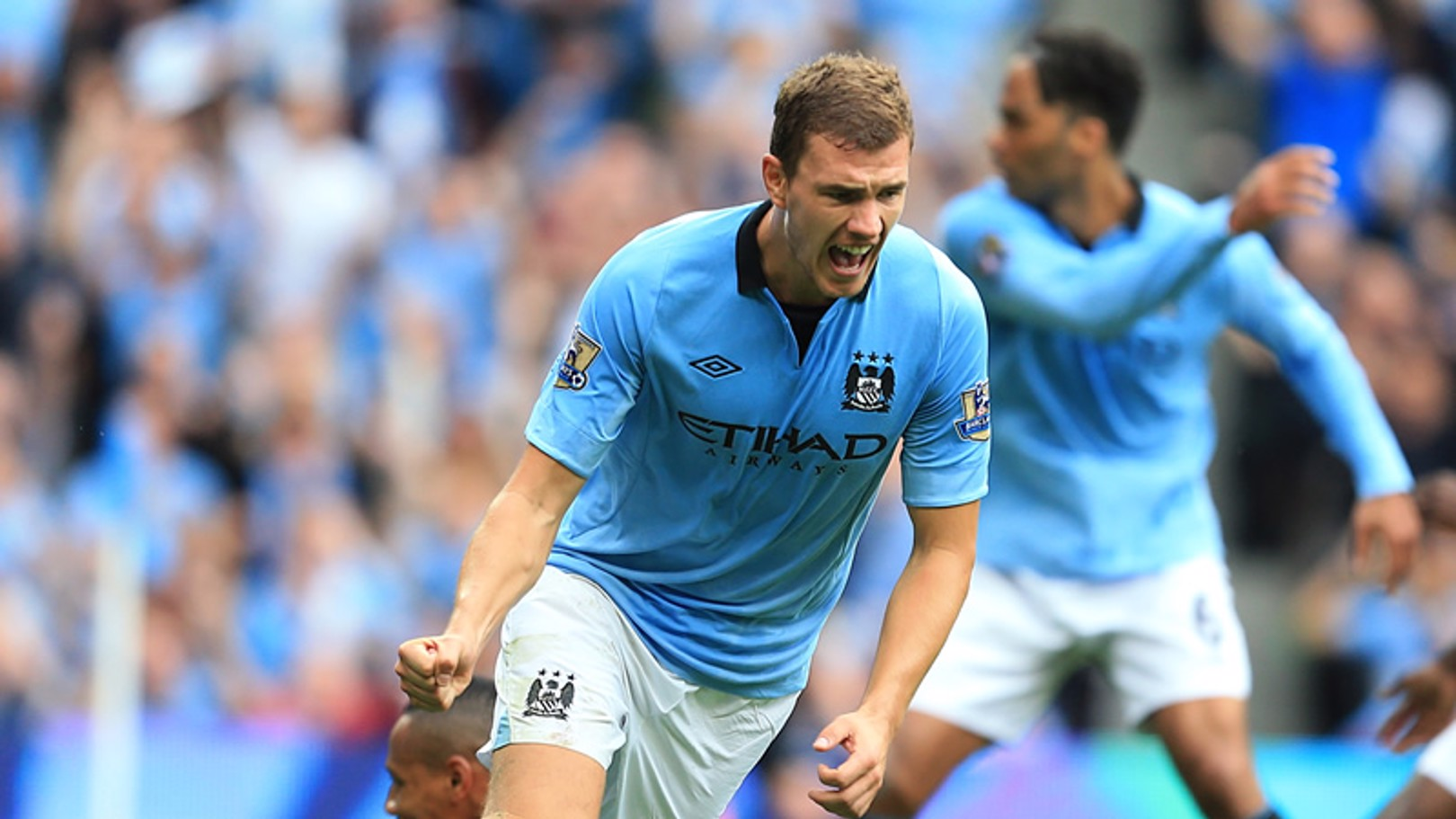 Edin Dzeko is amongst the goals as City narrowly beat Southampton 3-2