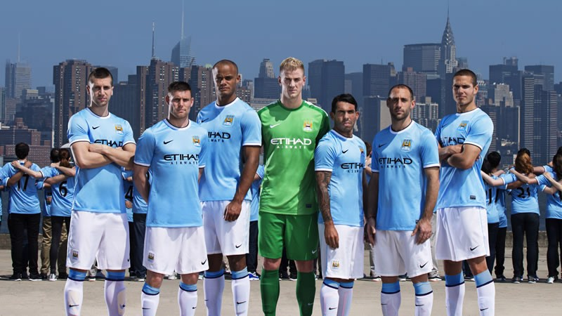 6a3655fe2a8 New Nike Manchester City kit announced in New York