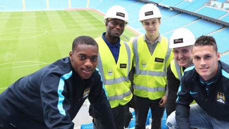 Apprentices place final seats in Etihad's new stand