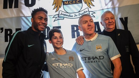 Sterling visits Melbourne Supporters' Club