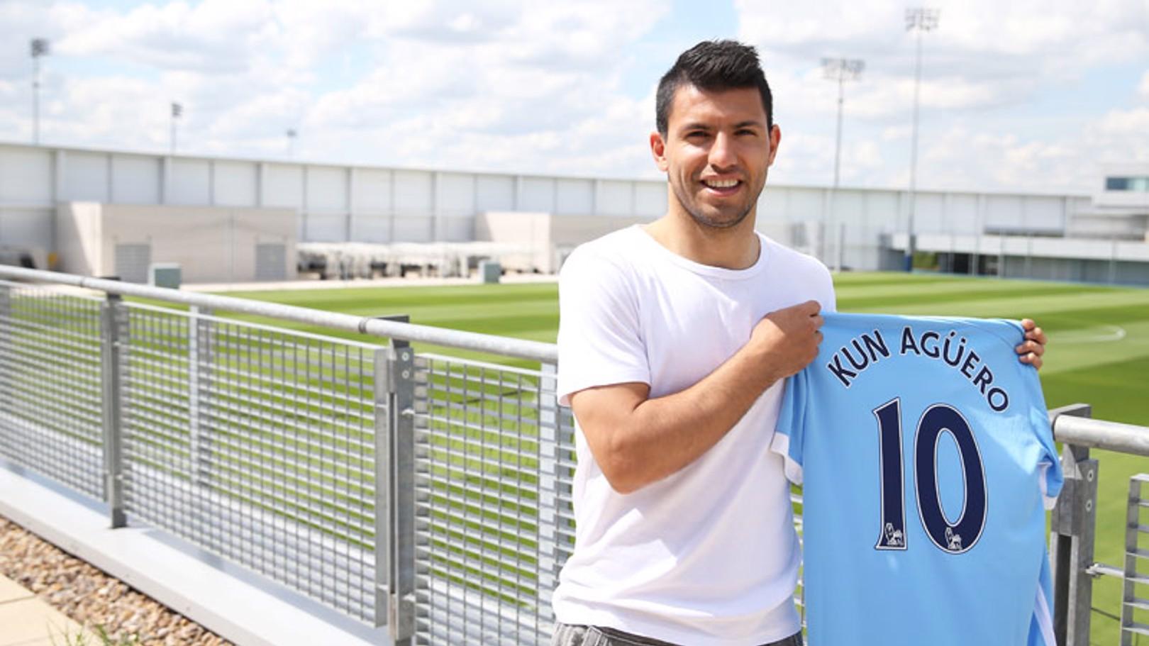 Aguero toma el número 10 para la temporada 2015/16