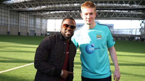 Kevin Hart and Kevin De Bruyne