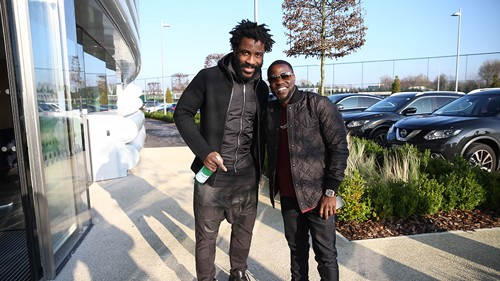 Kevin Hart and Wilfried Bony