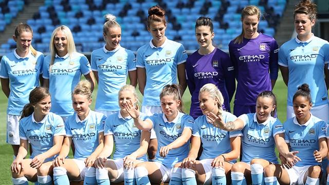 Manchester City Women photo shoot