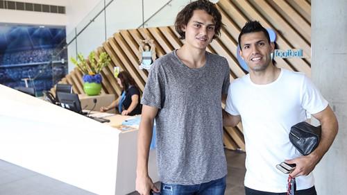 Sergio Aguero and Enes Unal