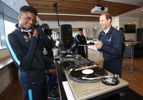Prince Edward visits Manchester City