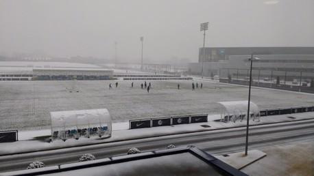 รวมภาพการฝึกซ้อมในหิมะ