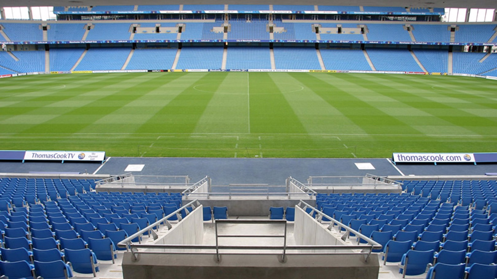 City of Manchester Stadium players tunnel and pitch