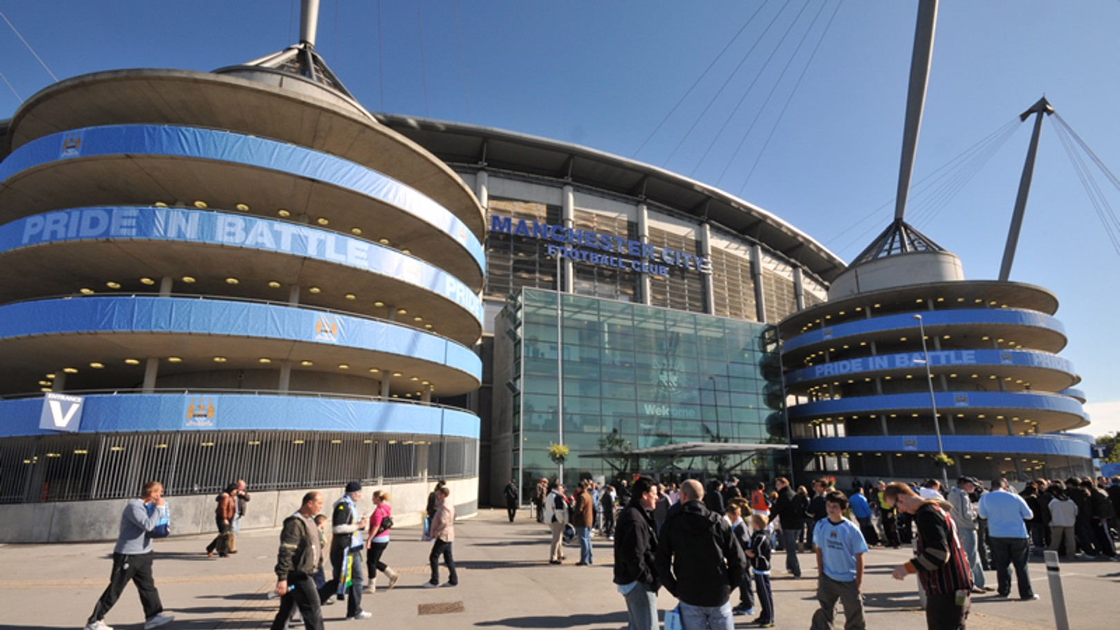 City of Manchester Stadium reception during matchday