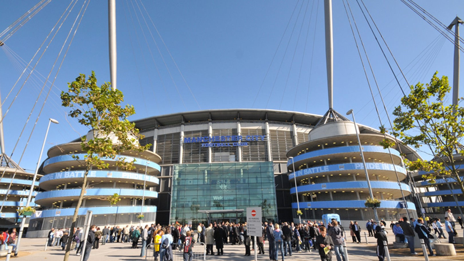 City of Manchester Stadium reception at the front