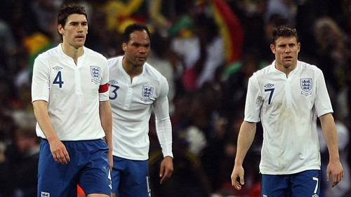 Three Lions: Barry, Lescott and Milner on England duty