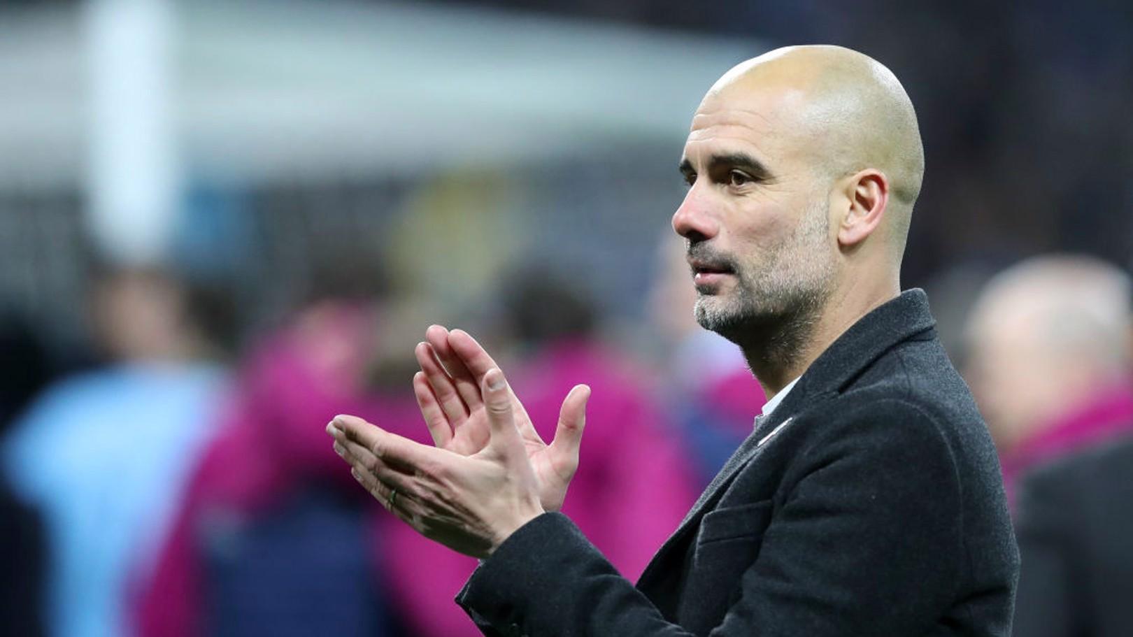 PEP GUARDIOLA. Primer título con el Manchester City.