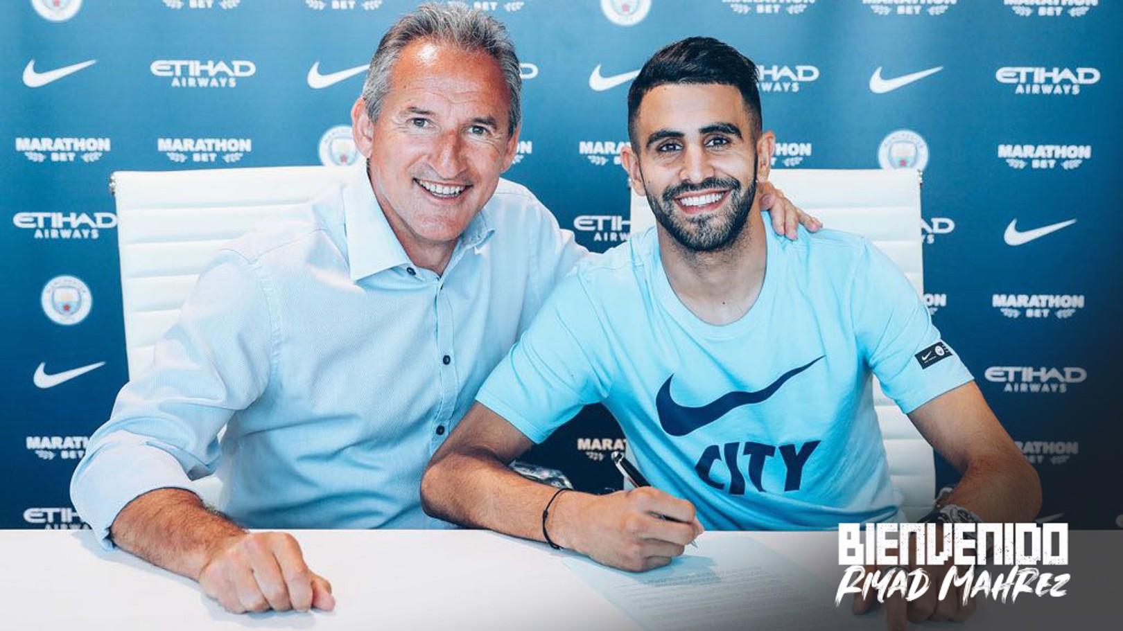 Riyad Mahrez se convierte en nuevo jugador del Manchester City.