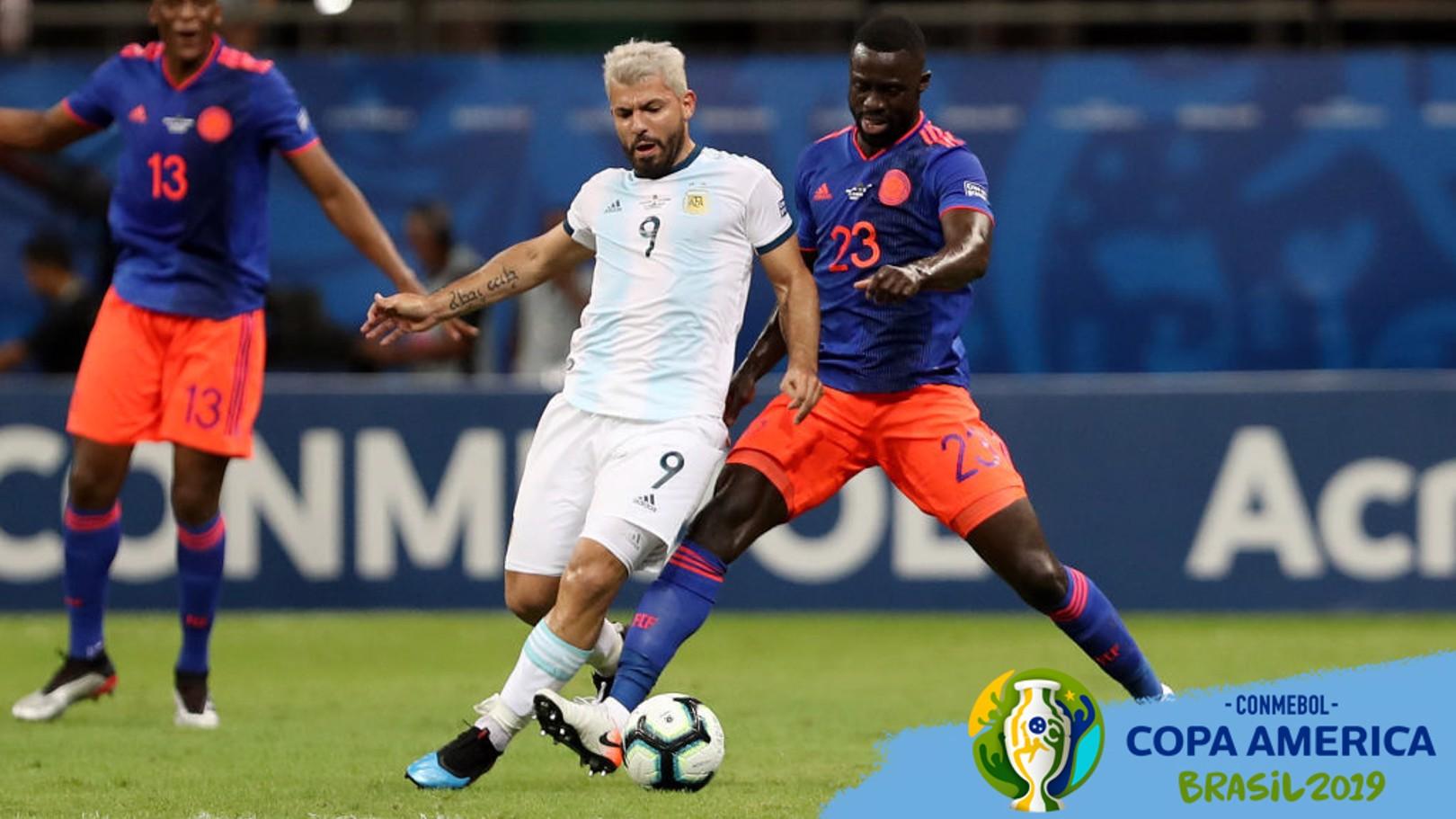 SERGIO AGÜERO. Argentina cayó ante Colombia.