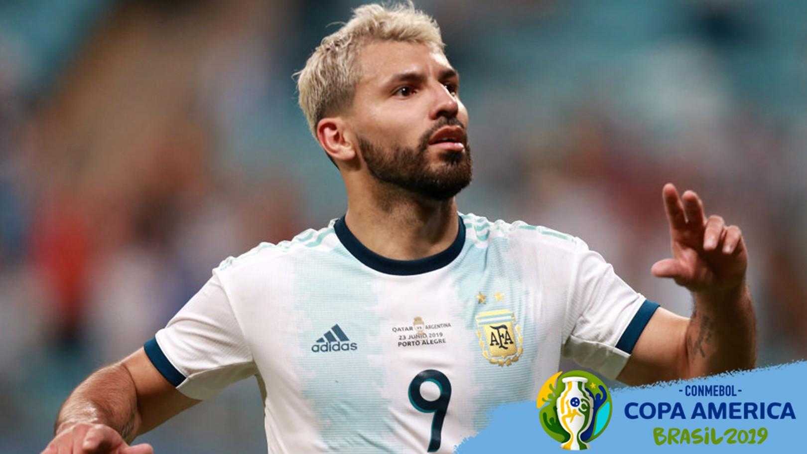 SERGIO AGÜERO. El Kun anotó el segundo gol argentino ante Catar.
