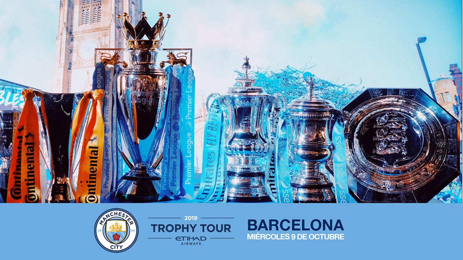 TROPHY TOUR. Los trofeos del City visitarán España.
