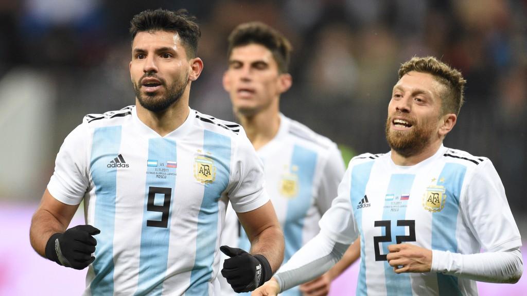 GOLEADOR. Sergio marcó el tanto de la victoria 0-1 de Argentina ante Rusia.