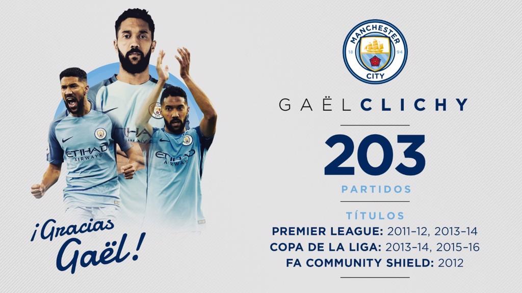 Gaël Clichy dejará el City el 30 de junio
