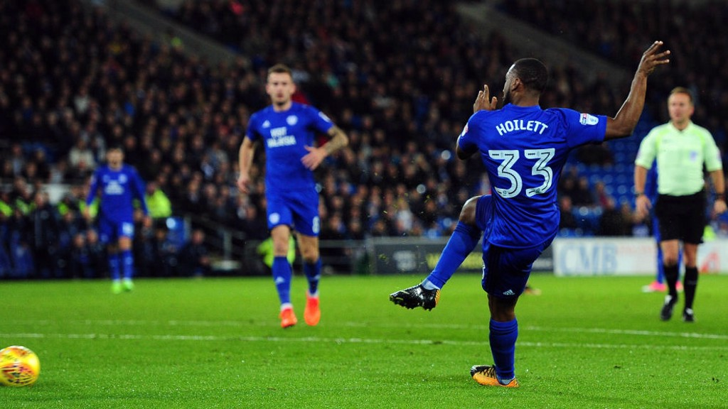 JUNIOR HOILETT. Máximo goleador del Cardiff esta temporada.