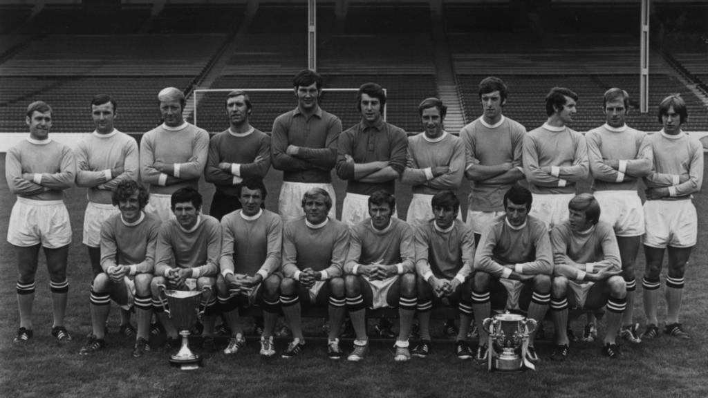 El Manchester City que ganó la Recopa y la Copa de la Liga en 1970.