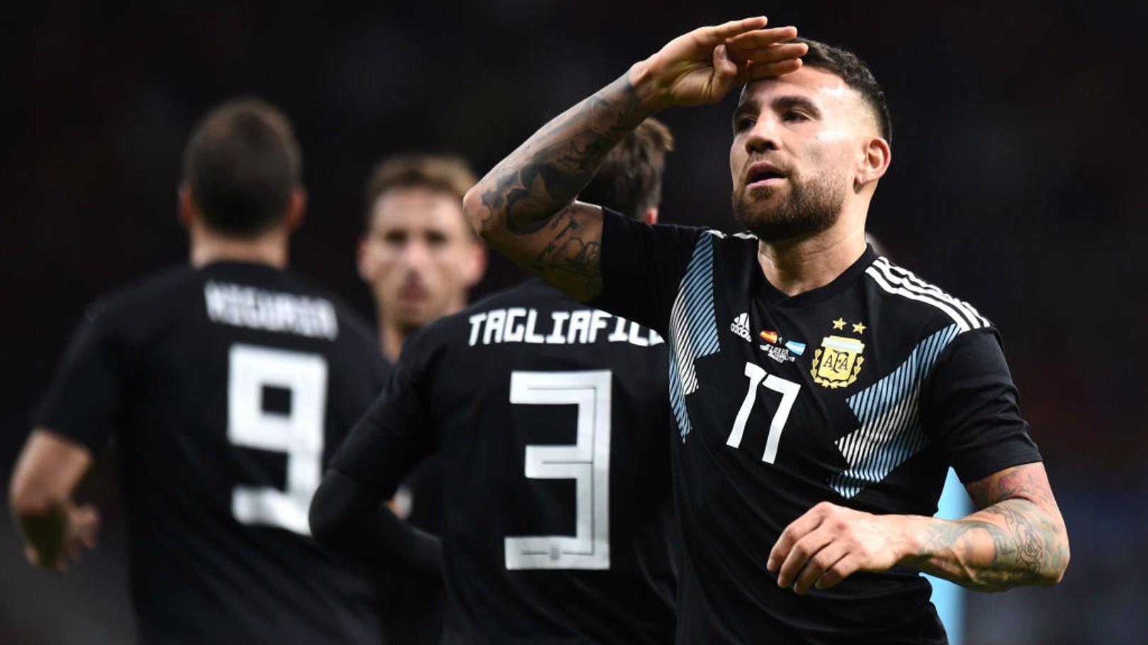 NICO OTAMENDI. Autor del gol de Argentina ante España.