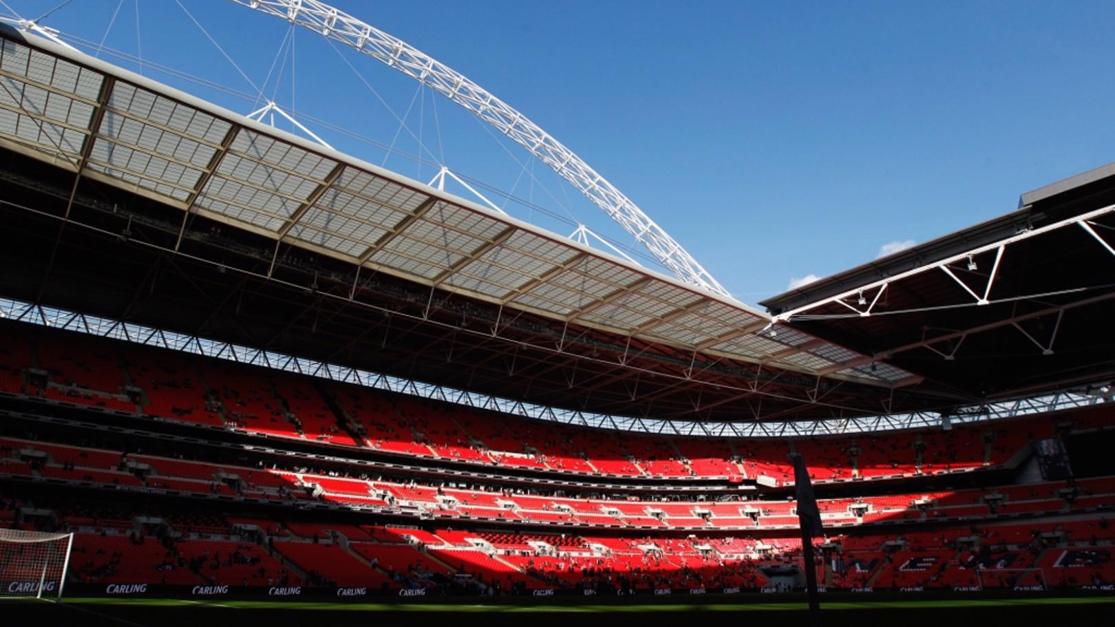 WEMBLEY. Sede del amistoso entre Inglaterra y Brasil.