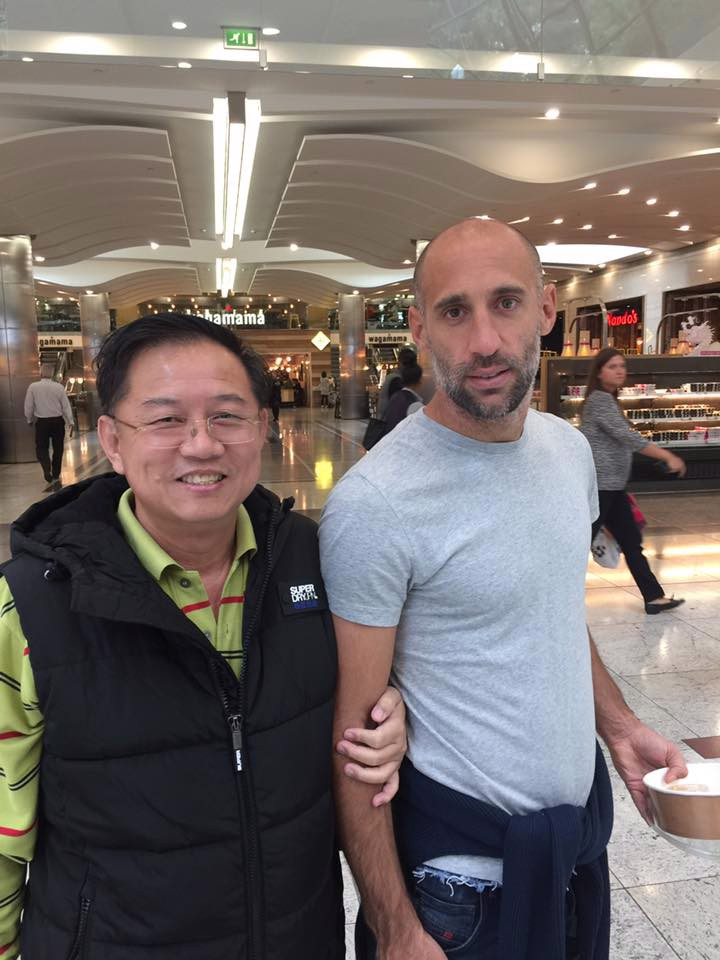 Mr Chatchai with Zaba