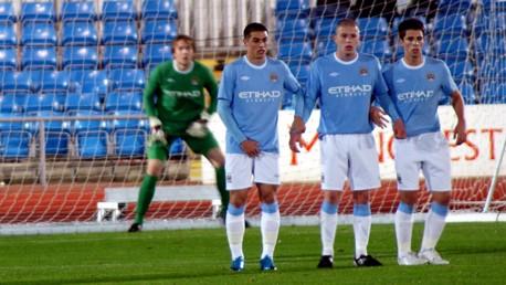 Reserves defensive wall v Burnley October 2009