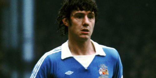 BRIAN KIDD: Sporting a classic City strip, 'Kiddo' served the Blue half of Manchester in the late 1970s