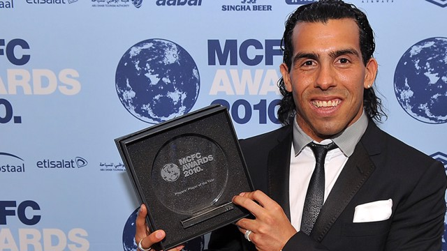 Tevez gets players' player awarrd 2009-10