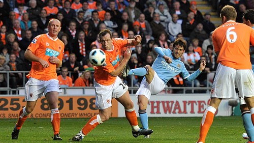Silva Goal Blackpool