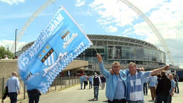 Bredbury City fans at Wembley