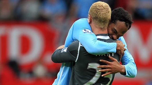Harty and Lescott celebrate