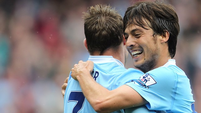 James milner and David silva