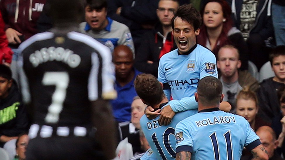 SENSATIONAL SILVA: An El Mago inspired City downed Newcastle 2-0 to kick off the 2014/15 campaign.